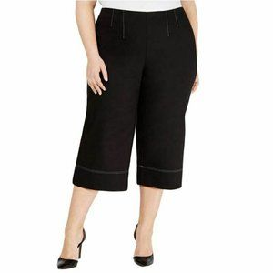 INC 1X Black White Contrast Stitch Pants NWT CD81